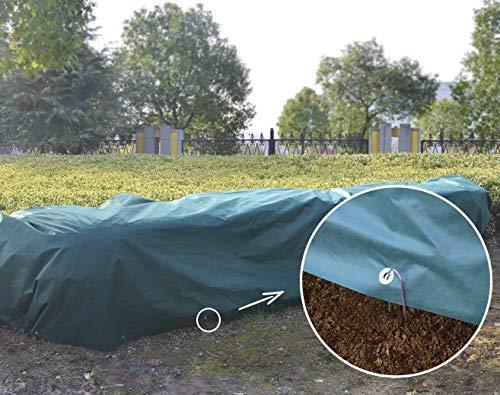 UniEco Winterschutz für Pflanzen Abdeckplane Gewebeplane 4x10m 50gm2