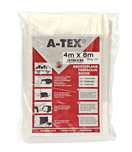A-Tex gewebeverstärkte Abdeckplane 260 gm² Größe4 x 8 m