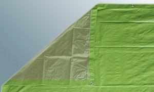 Abdeckplane Gewebeplane 5 x 6 m 80 gm² mit doppeltem Rand und Ösen 074 EURqm
