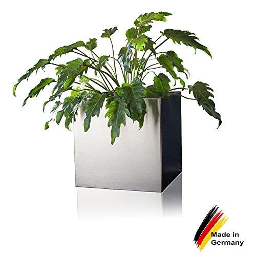 Pflanzkübel Blumenkübel CUBO 40 Edelstahl gebürstet 40x40x40 cm