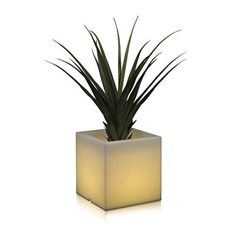 Pflanzkübel Blumenkübel CUBO LUZ 40 Kunststoff LED RGB 40x40x40 cm Gartenleuchte Blumentopf Design Leuchte