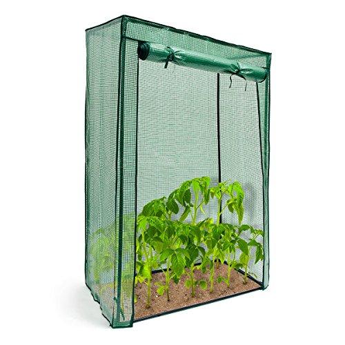 Relaxdays Tomatengewächshaus Stahlrohr u Folie 150 x 100 x 50 cm HxBxT stabiles Treibhaus f Balkon u Garten grün