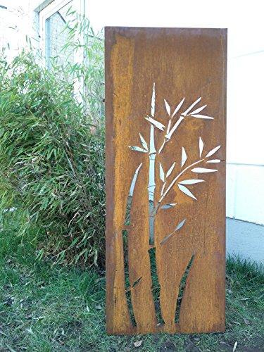 Garten Sichtschutz aus Metall Rost Gartenzaun Gartendeko edelrost Sichtschutzwand 031344-3 125502cm