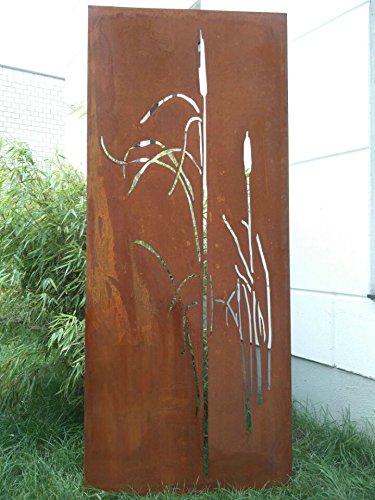 Garten Sichtschutz aus Metall Rost Gartenzaun Gartendeko edelrost Sichtschutzwand 031477-3 150752cm