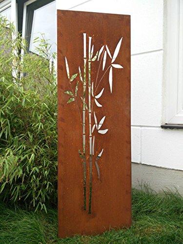 Garten Sichtschutz aus Metall Rost Gartenzaun Gartendeko edelrost Sichtschutzwand 031663 150502CM