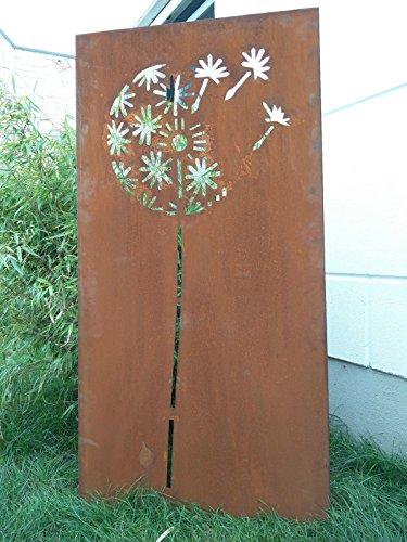 Garten Sichtschutz aus Metall Rost Gartenzaun Gartendeko edelrost Sichtschutzwand PF0007 150752CM