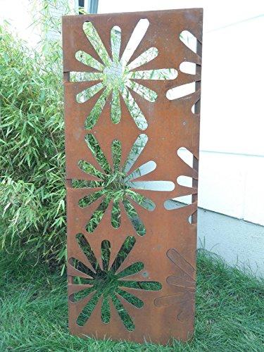 Garten Sichtschutz aus Metall Rost Gartenzaun Gartendeko edelrost Sichtschutzwand PF0013 125502CM
