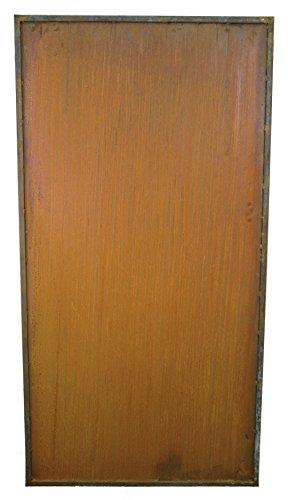 Metallmichl Metall Sichtschutzzaun Rost ohne Muster Höhe 200 cm Breite 100 cm