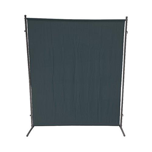 Sichtschutz Trennwand 150x190cm Metall  Textilbespannung anthrazit verlängerbar