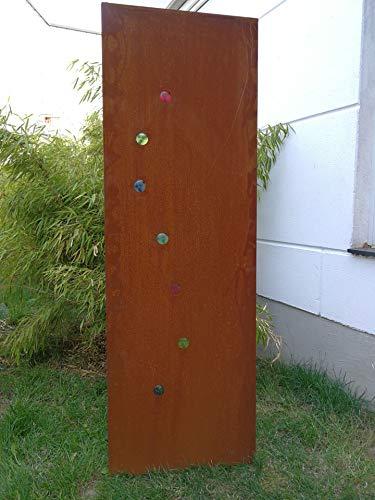 Zen Man Edelrost Garten Sichtschutz aus Metall Rost Gartenzaun Gartendeko edelrost Sichtschutzwand 150  50 cm 101574