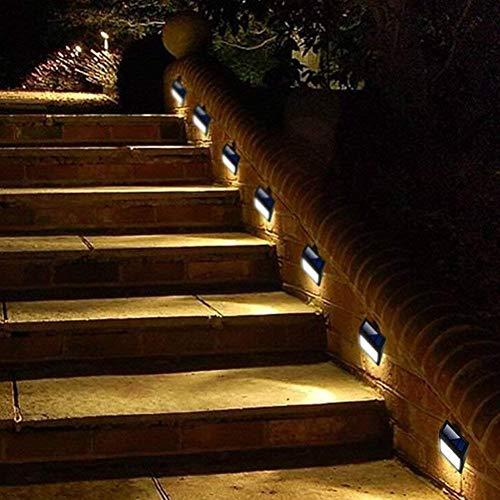 Solar - Wand licht 4 - er Packung Solar 6 Led - Licht Wandbefestigung Garten Weg Lampe Schritt Licht Terrasse Gosse Zaun Beleuchtung