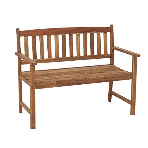 greemotion Bank Borkum akazie 2-Sitzer aus FSC zertifiziertem Akazienholz robuste Gartenbank im Landhaus-Stil witterungsbeständig und langlebig