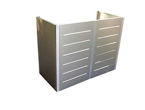 Gero metall Mülltonnen-Sichtschutz Mülltonnenverkleidung Corso Line für Zwei 120 Liter Mülltonnen