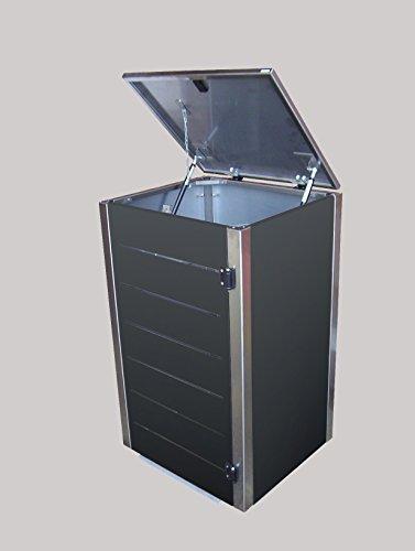 Gero metall Mülltonnenbox Eleganza Line für eine 120 Liter Mülltonnen in Anthrazit