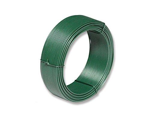 Zaun-Nagel Bindedraht 15 m Länge 20 mm Dicke inkl PVC-Mantel grün gehärteter Drahtkern verzinkt