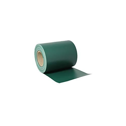 LARS360 35m x 19cm PVC Grün Sichtschutzstreifen Sichtschutzfolie Zaunfolie Dick Blickdicht Sichtschutz Doppelstabmattenzaun Windschutz mit 20 x Befestigungsclips für Gartenzaun Balkon Terrasse