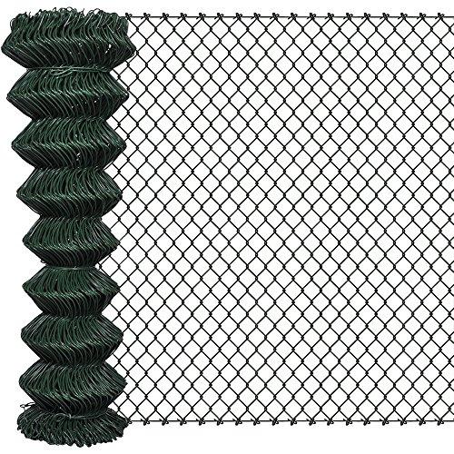 MASCHENDRAHT Maschendrahtzaun Gartenzaun Zaun Viereckgeflecht grün 150cm x 15m