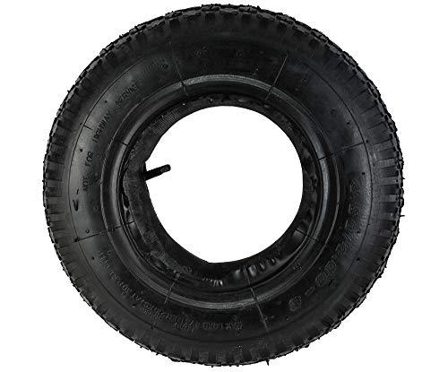 Iso Trade Reifen mit Schlauch für Schubkarre 480-400-8 Kfz-Ventil Belastbar bis 210kg 6250