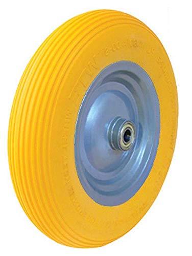 1 PU-Schubkarrenrad 480400-8 Stahlfelge grau gepulvert Kugellager max180Kg pannensicher Hersteller HKB Artikel-Nr 161820