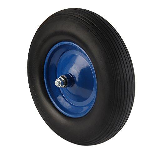 KinshopS Schubkarrenrad Reifen Vollgummi PU 480400-8 ø  390 mm für Schubkarre Vollgummi- Reifen Ersatzrad Pannensicher
