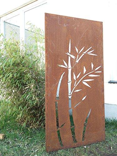 Garten Sichtschutz aus Metall Rost Gartenzaun Gartendeko edelrost Sichtschutzwand 031344-1 150752cm
