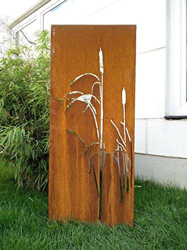 Garten Sichtschutz aus Metall Rost Gartenzaun Gartendeko edelrost Sichtschutzwand 031477-4 125502CM