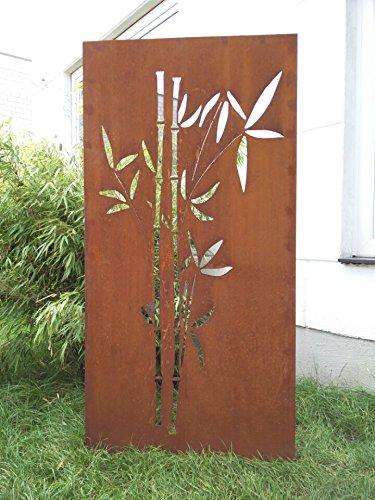 Garten Sichtschutz aus Metall Rost Gartenzaun Gartendeko edelrost Sichtschutzwand 031663-1 150752CM