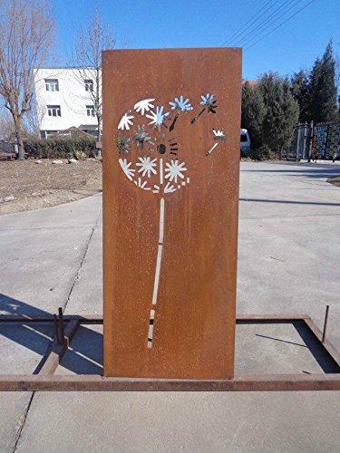 Garten Sichtschutz aus Metall Rost Gartenzaun Gartendeko edelrost Sichtschutzwand PF0002 150502CM