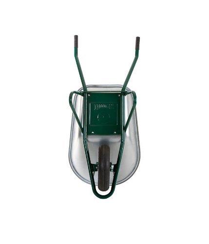 2x Profi Schubkarre Bauschubkarre grün 100l Liter mit Bodenplatte NEU