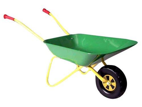 rolly toys 271801 - Schubkarre aus Metall grün gelb 80cm