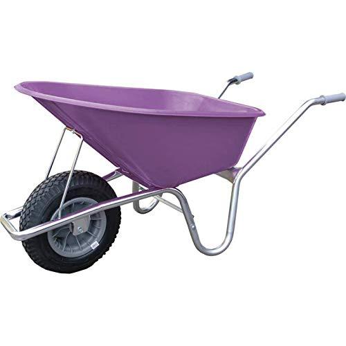 Neco Schubkarre 100 l pink mit Luftrad