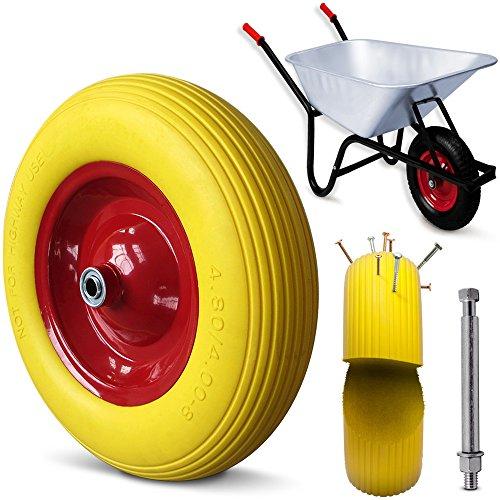 Schubkarre 100 LITER Transportwagen Gerätewagen Gartenkarre - bis 250kg Belastbarkeit - Luftbereift - geländegängiges Stollenprofil - stabile Ausführung mit Aufliegewanne