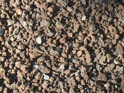 Der Naturstein Garten 125 kg Lava Mulch 2-8 mm - Pflanzgranulat Lavastein Lavasteine Kies Kiesel Lavamulch Dachbegrünung Lavagranulat - LIEFERUNG KOSTENLOS