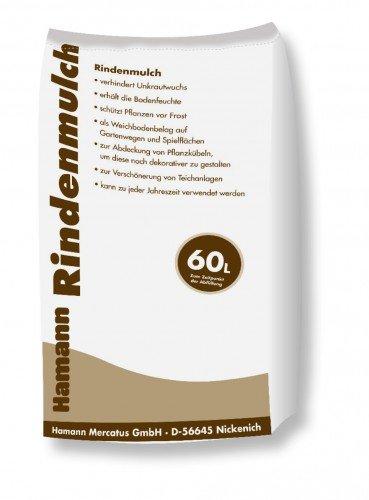 Hamann Rindenmulch 0-40 mm 60 l Garten-Mulch zum Schutz dekorativen kreativen und individuellen Gestaltung