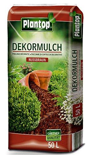 Rindenmulch Dekor 50 Liter Nußbraun Deko Mulch Garten Dekormulch Plantop