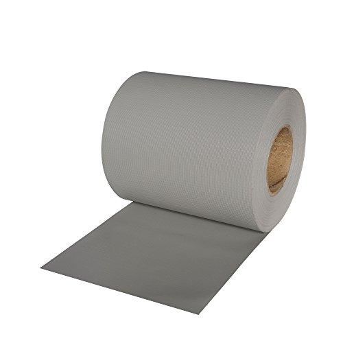 JAROLIFT PVC Sichtschutzstreifen 19 cm x 40 m mit 25x Befestigungsclipse Sichtschutz grau