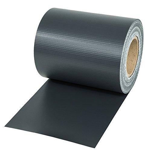 TecTake PVC Sichtschutzfolie Sichtschutzstreifen inkl Befestigungsclips 450gm² - Diverse Modelle - 35m anthrazit  Nr 401863