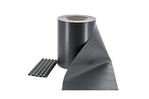 ILESTO PVC Sichtschutzstreifen für Zäune – Sichtschutz für Ihren Gartenzaun 35m – Anthrazit RAL 7016
