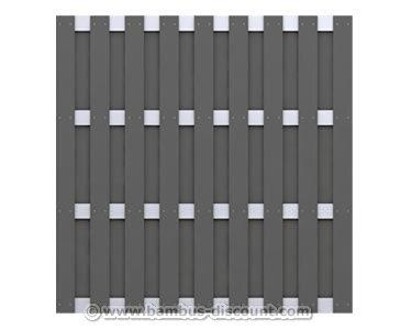 Gartenzaun blickdicht aus WPC 179x179cm - Sichtschutz Sichtschutz Elemente Sichtschutzwand Windschutz