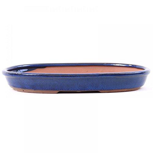 Bonsai - Schale Waldschale oval 27 x 165 x 35 cm blau 51014
