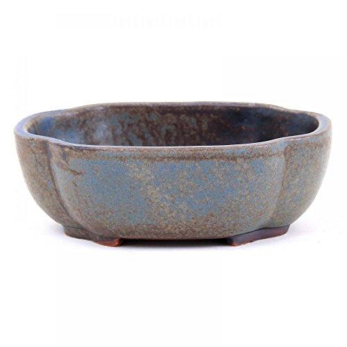 Bonsai - Schale oval 105 x 85 x 35 cm blau-braun 15024