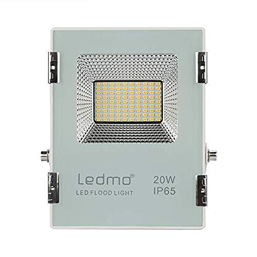 LEDMO 20W led strahler 3000k Warmweiß led fluter aussen 1800LM Außenstrahler IP65 Wasserdicht flood light CRI80 LED Scheinwerfer Flutlicht