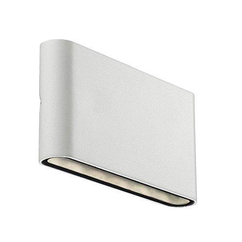 Nordlux LED Außenleuchte KINVER Wandleuchte 6W LED 3000K IP54 weiß EEK A