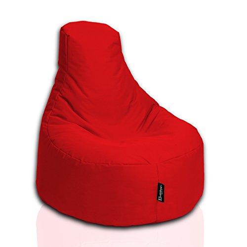 BuBiBag Gamer Kissen Garten Lounge Sitzsack Sessel Sitzkissen In Outdoor geeignet fertig befüllt in 31 Farben Rot