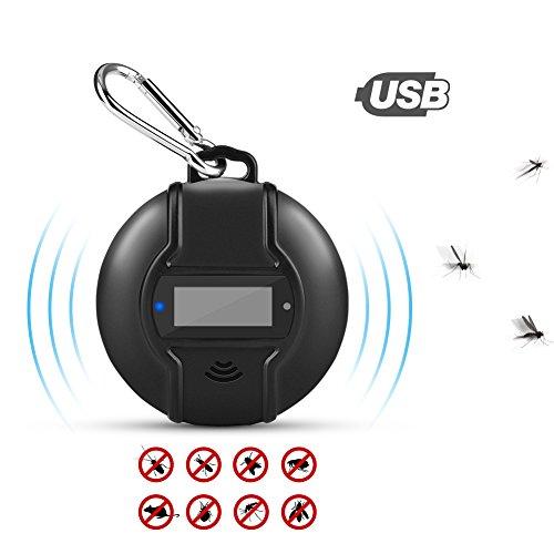 YUNSHANGAUTO Ultraschall SchädlingsbekämpferUltraschall MückenschutzMicro USB geladenes InsektenschutzmittelHauptsächlich Gebrauch für Moskito sicher für Menschen und Haustiere