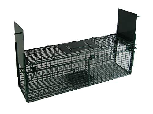 Maxx - Lebendfalle Rattenfalle - Maderfalle Falle Kastenfalle lebend Käfigfalle Tierfalle Mausefalle - für Maus Ratte Nagetiere - 60x18x20cm