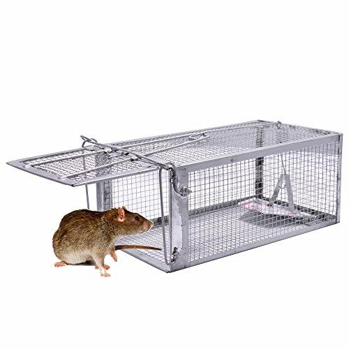 Pronghorn Mausefalle Lebendfalle Mäusefalle Kastenfalle Rattenfalle Schlagfalle Tierfalle Wühlmaus Falle 26X14X12CM