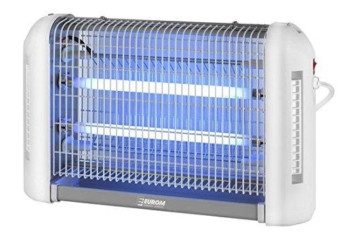 EUROM All Round 16 Insektenvernichter Insektenlampe mit UV-Lampe 16W 2x 8W und 100m² Reichweite