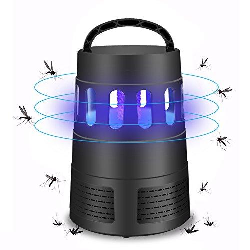 Moskito-Lampe Moskito Killer aus ABS Insektenvernichter UV LED Moskitolampe elektrisch Mückenfalle durch Reine physikalische Mückenbekämpfung Keine Strahlung für Camping zu Hause 30m² SCHWARZ