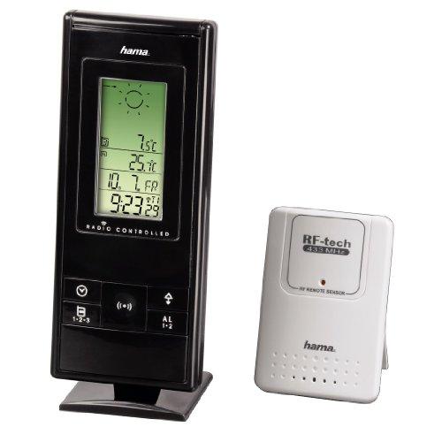 Hama Elektronische Wetterstation EWS-270 mit Wettervorhersage Uhr und Datum